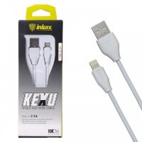 Кабель USB inkax CK-22  i6 1000mm (white)
