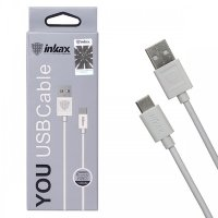 Кабель USB inkax CK-01 Type-C 1000mm (white)