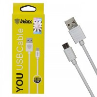 Кабель USB inkax CK-01 V8 Micro 1000mm (white)