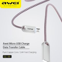 Кабель USB Awei CL-30 V8 Micro (rose-gold) 1000mm оригинал
