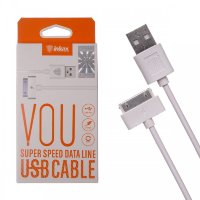 Кабель USB inkax CK-13  i4 Apple 1000mm (white)