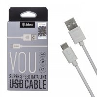 Кабель USB inkax CK-13 Type-C 1000mm (white)