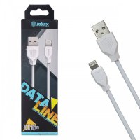 Кабель USB inkax CK-18  i6 1000mm (white)