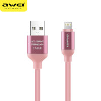Кабель USB Awei CL-80 i6 Appl (pink) 1000mm PVC оригинал