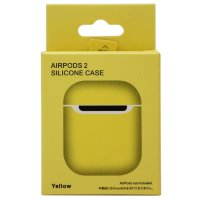 Чехол Silicone Case Airpods 2 желтый