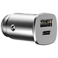 АЗУ Baseus Square metal A+C 30W PPS Car Charger CCALL-AS0S (Silver)