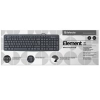 Клавиатура  Defender Element HB-520U B Black, standart, USB