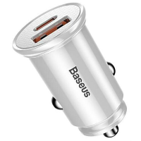 АЗУ Baseus Circular Plastic A+C 30W PPS Car Charger CCALL-YS02 (White)