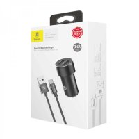 АЗУ + кабель Type-C Baseus Small Screw 3.4A Dual-USB TZXLD-B01 (Black)